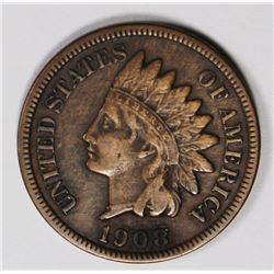 1908-S INDIAN CENT VF/XF KEY COIN! 1908-S INDIAN CENT VF/XF KEY COIN! ESTIMATE: $150-$200