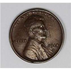 1914-D LINCOLN CENT XF KEY COIN! NICE! 1914-D LINCOLN CENT XF KEY COIN! NICE! ESTIMATE: $625-$700