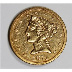 1874-S $5 GOLD  XF 1874-S $5 GOLD  XF. VERY LOW MINTAGE OF ONLY 16,000. MOST OF WHICH ARE LONG GONE