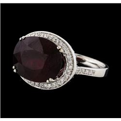 11.48 ctw Ruby and Diamond Ring - 14KT White Gold