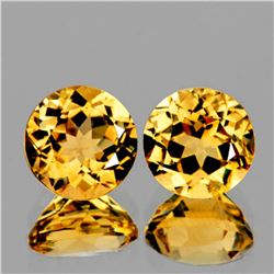 Natural Brilliant Golden Yellow Citrine Pair - Flawless