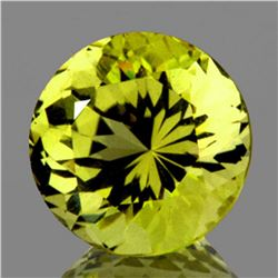 Natural Green Gold Lemon Quartz 10.50 MM - VVS