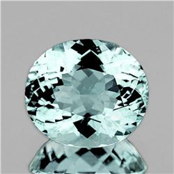 NATURAL GREENISH BLUE AQUAMARINE 3.78 Ct - FL