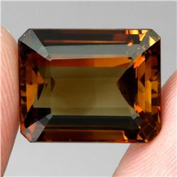Natural Top Champagne Imperial Topaz Brazil 19.56 Ct