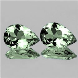 Natural Green Amethyst  Pair 15x10 MM - Flawless
