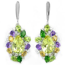 NATURAL AMETHYST CH-DIOPSIDE CITRINE Earrings