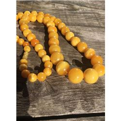 Antique Natural Amber Butterscotch Egg Yolk Necklace