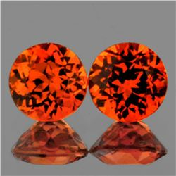 Natural Mandarin Orange Spessartite Garnet 6.00 MM -VVS