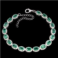 Natural Green Columbian Emerald Bracelet