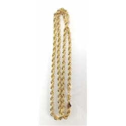 HUGE 14 Kt. GOLD PLATED ROPE CHAIN
