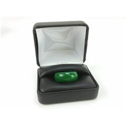 BEAUTIFUL 23.5 CT GREEN JADE RING