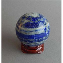 BEAUTIFUL 527 CT NATURAL BLUE LAPIS  LAZULI GEM SPHERE.