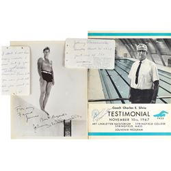 Johnny Weissmuller Group of (4) Signed Items