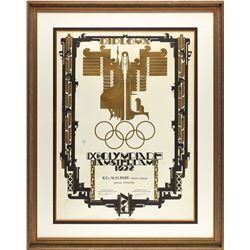 Amsterdam 1928 Summer Olympics Official Diploma