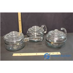 Lot of Pyrex Pots and Kettles w/ Lids