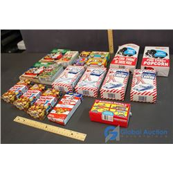 Lot of Vintage Candy Popcorn and Food Boxes
