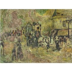 French Post-Impressionist Oil Paper Pierre Bonnard