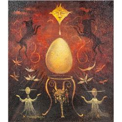Mexican Surrealist OOC Signed Leonora Carrington