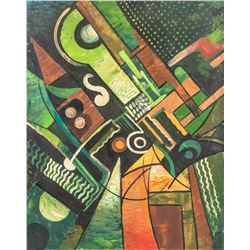 French Cubist Oil on Canvas Signed G. Braque