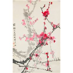 Cheng Shengda b.1941 Chinese Watercolor Paper Roll