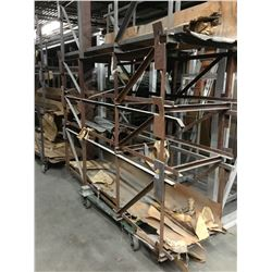 """Approx. (50) 3 Shelf Rolling Parts Carts 26-1/2""""x 101"""" – Taller Storage Units"""