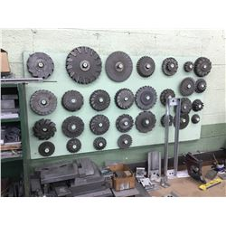 Assorted Milling Cutters On Wall