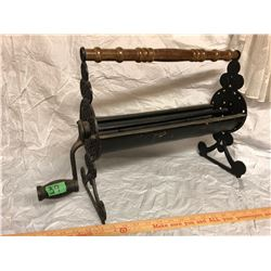 ANTIQUE CAST PAPER ROLLER FOR MAKING FIRE LOGS