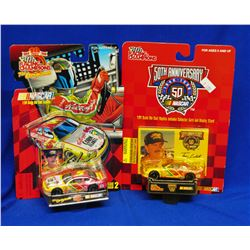 FOUR TERRY LABONTE DIE CAST STOCK CARS WITH STANDS
