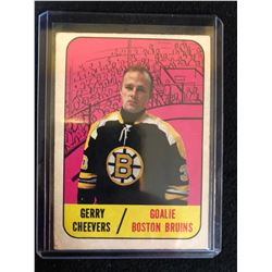 1967-68 Topps Boston Bruins Hockey Card #99 Gerry Cheevers