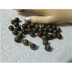 GEMSTONE BEADS - AFRICAN BLOOD STONE 10.4 mm - 35pc