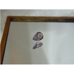 GEMSTONE - AMETHYST - PEAR FACETED - 5.7 X 3.9 X 2.1mm