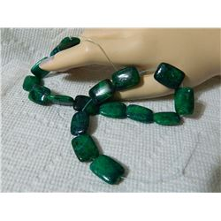 GEMSTONE BEADS - AZURITE CHRYSOCULLA 18.5 mm - 17pc