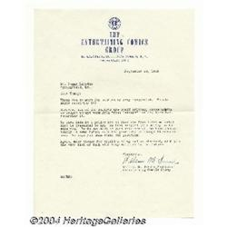 ec comics rejection letter with william m gaines signature 1953