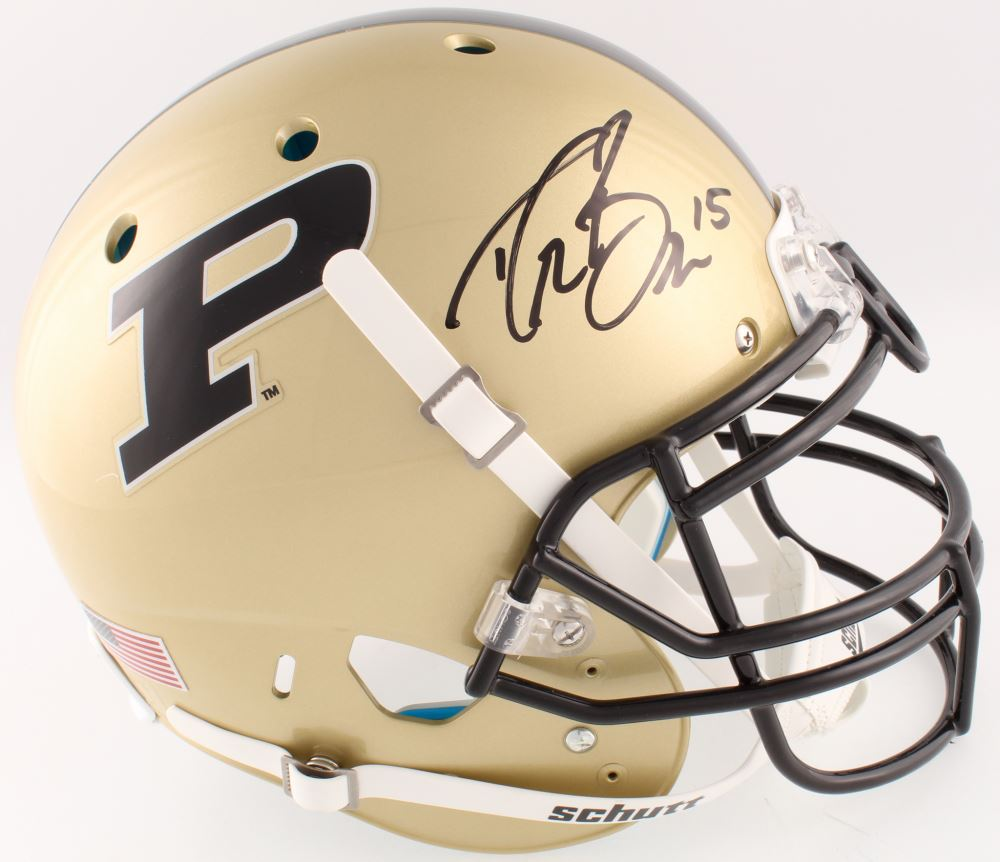 Image 1   Drew Brees Signed Purdue Boilermakers Full-Size Authentic  On-Field Helmet e0ca7d19a