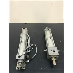 (2) SMC AIR CYLINDERS *SEE PICS FOR DETAILS*