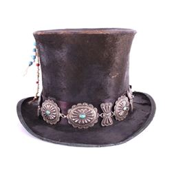 Navajo Native American Concho Top Hat