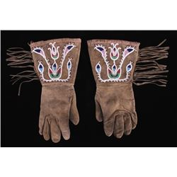 Eastern Sioux Beaded Gauntlets circa 1890