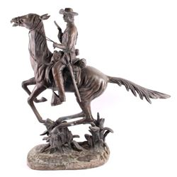 Original S. Kelieam US Cavalry Sculpture LARGE
