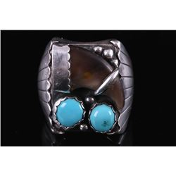 Navajo Silver, Sleeping Beauty & Bear Claw Ring