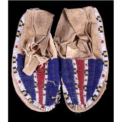 Gros Ventre Fully Beaded Moccasins 19th Century