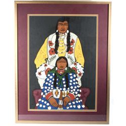 Crown Husband and Wife Serigraph By Kevin Red Star