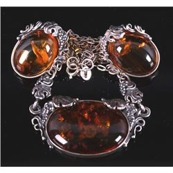 Art Nouveau Amber Earring & Necklace Collection