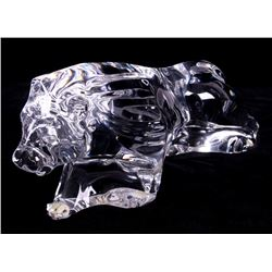 Baccarat Crystal Lion Sculpture