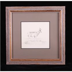 Ron Bailey Original Framed Pencil Sketch
