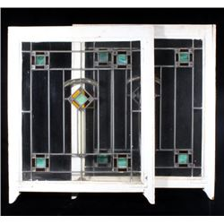 Art Deco Transom Stain Glass Windows