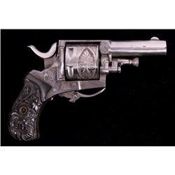 Engraved Belgian Proofed British Bulldog Revolver