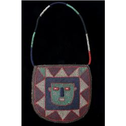 Plains Indian Multi Colored Beaded Pouch