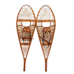 C. 1930's Hickory & Rawhide C.A. Lund Snowshoes