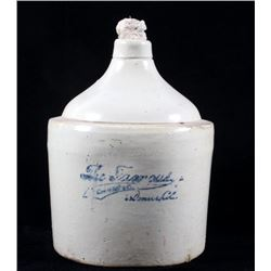 Large 'The Famous' Whiskey Crock Jug