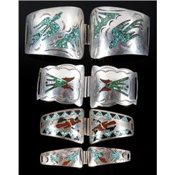 Collection of Sterling Silver and Chip Inlay Bands